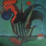 Kogut, 120 cm x 120 cm, olej na płótnie, 2015