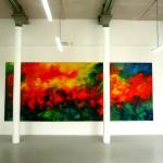 Abstrakcja, 235 cm x 594 cm, olej na płótnie, 2015