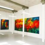 Abstrakcja, 235 cm x 198 cm, olej na płótnie, 2015