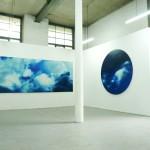 Studium chmur, 160 cm x 360 cm, olej na płótnie, 2014