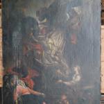 Zdjęcie z krzyża, XVIII w., własność Muzeum Kultury Kurpiowskiej w Ostrołęce, stan przed konserwacją