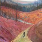 06. KAPŁAN MAŁGORZATA Wayfaring 2, own technique on canvas , 80 x 100 cm, 2015