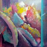 08. PETKOV DANITA Flower composition 1, acrylic on canvas, 100 x 120cm, 2014