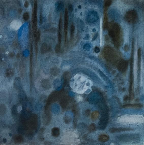 Tadeusz Baird Concerto Lugubre II, olej,plotno , 100x100