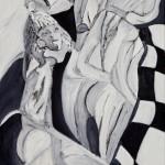 Wojciech Tut Chechliński, Co życie przyniesie, olej na płótnie, 100 x 70 cm, 2013 r, sygnowany (kat. 072)
