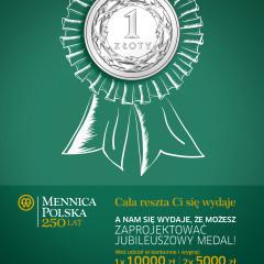 Konkurs na 250-lecie Mennicy Polskiej