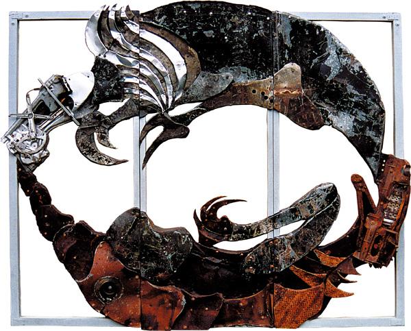 Bez tytulu, z cyklu Futuroidy, 2001r., 285x230cm