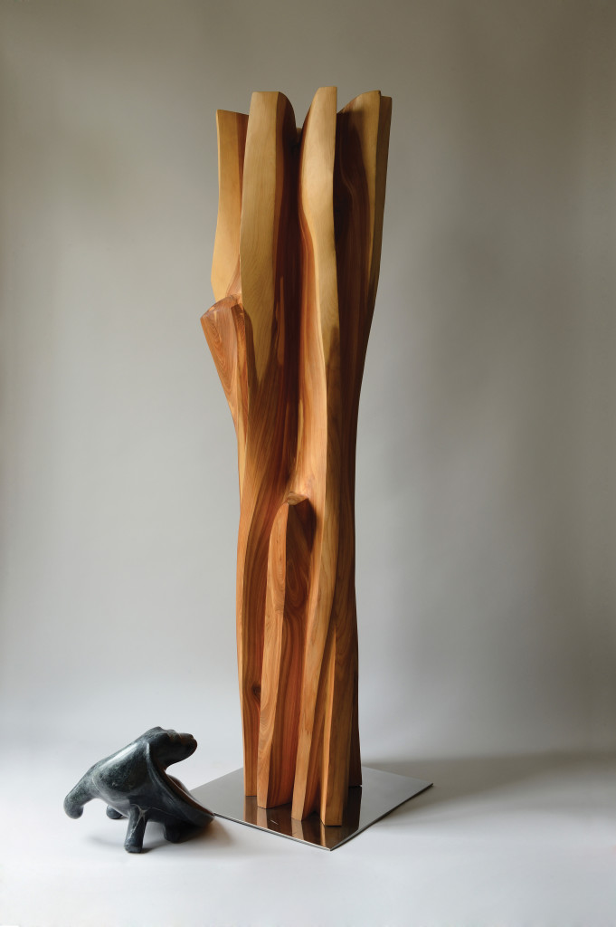 VENT du SUD cyprys, 125-34-33 cm, LOUTRE de MER serpentynit, 20x23x25 cm,