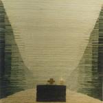 """gobelin """"Światło w Ronchamp"""" (100 x 120 cm), 1985"""