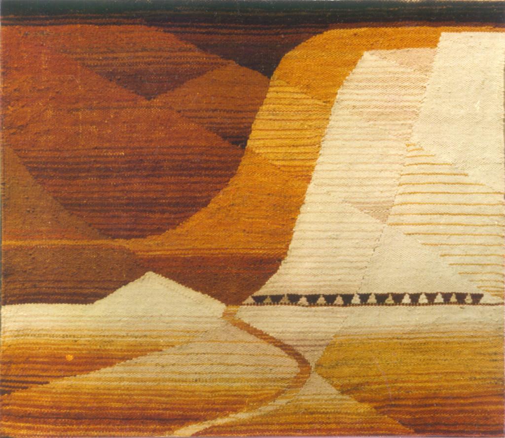 """gobelin """"Kamieniołomy w Kazimierzu"""" (145x130 cm), 1983"""