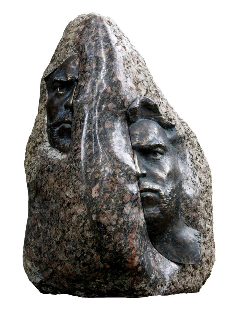 Autoportret-granit-brąz-2007