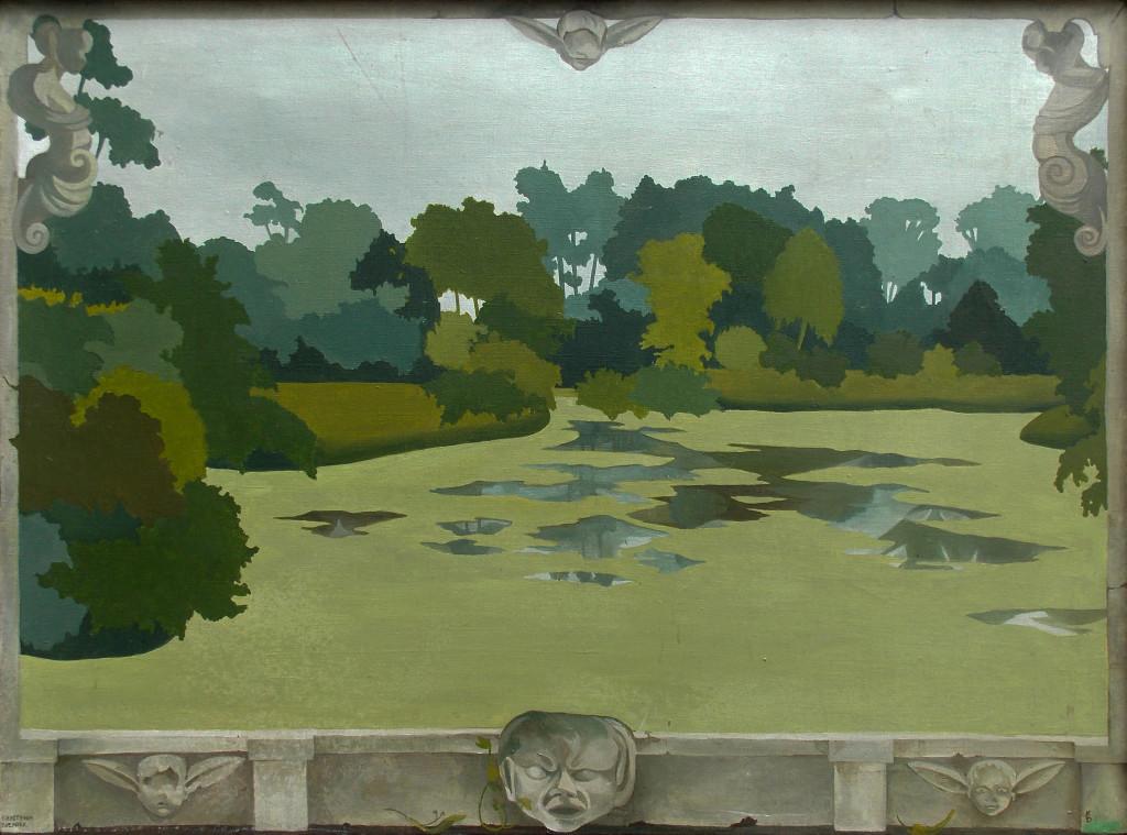Krystyna Bieniek - 'Impresje z Arkadii' (1999) [53,5 cm x 73 cm]