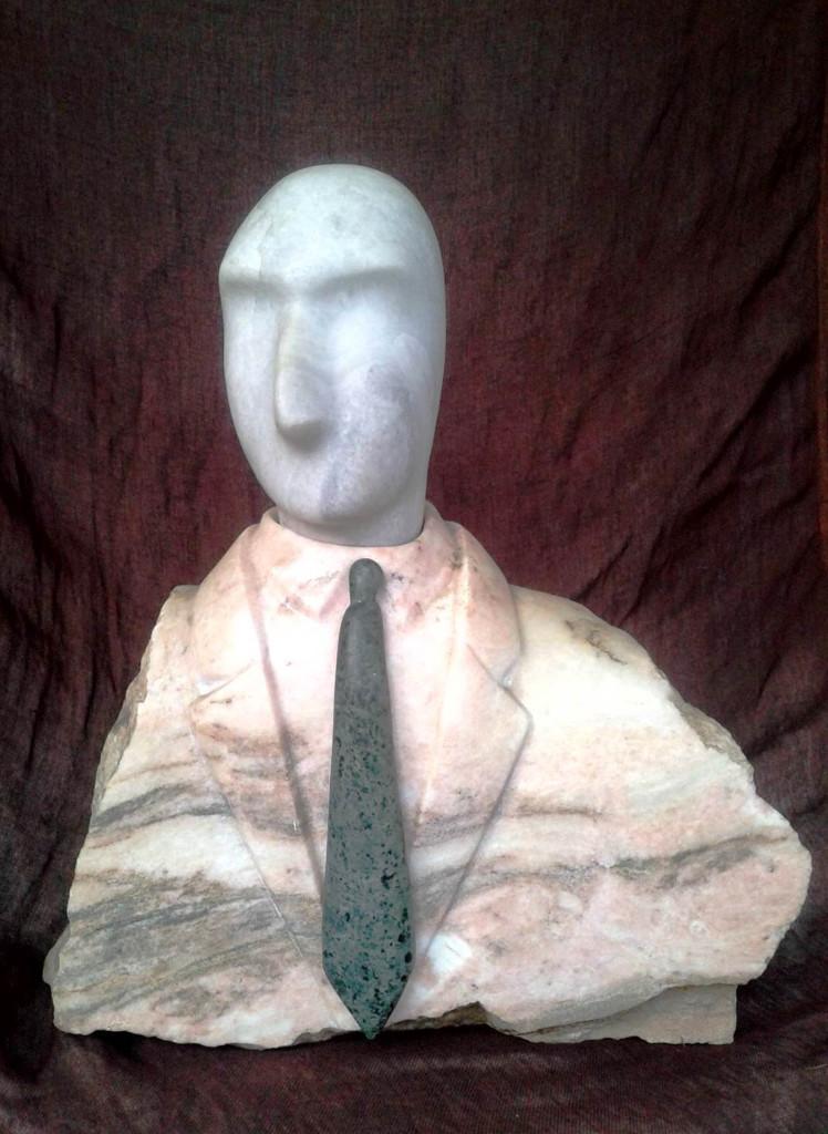 Prezes (marmur, serpentynit), wys.36cm