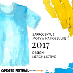 Konkurs na projekt oficjalnej koszulki Open'era