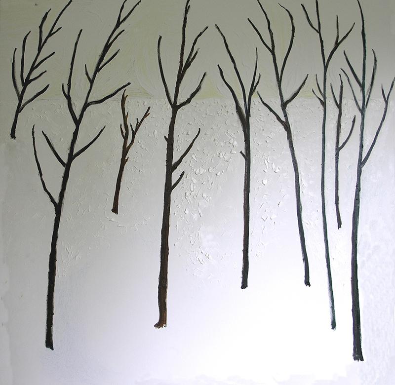 Drzewa na śniegu