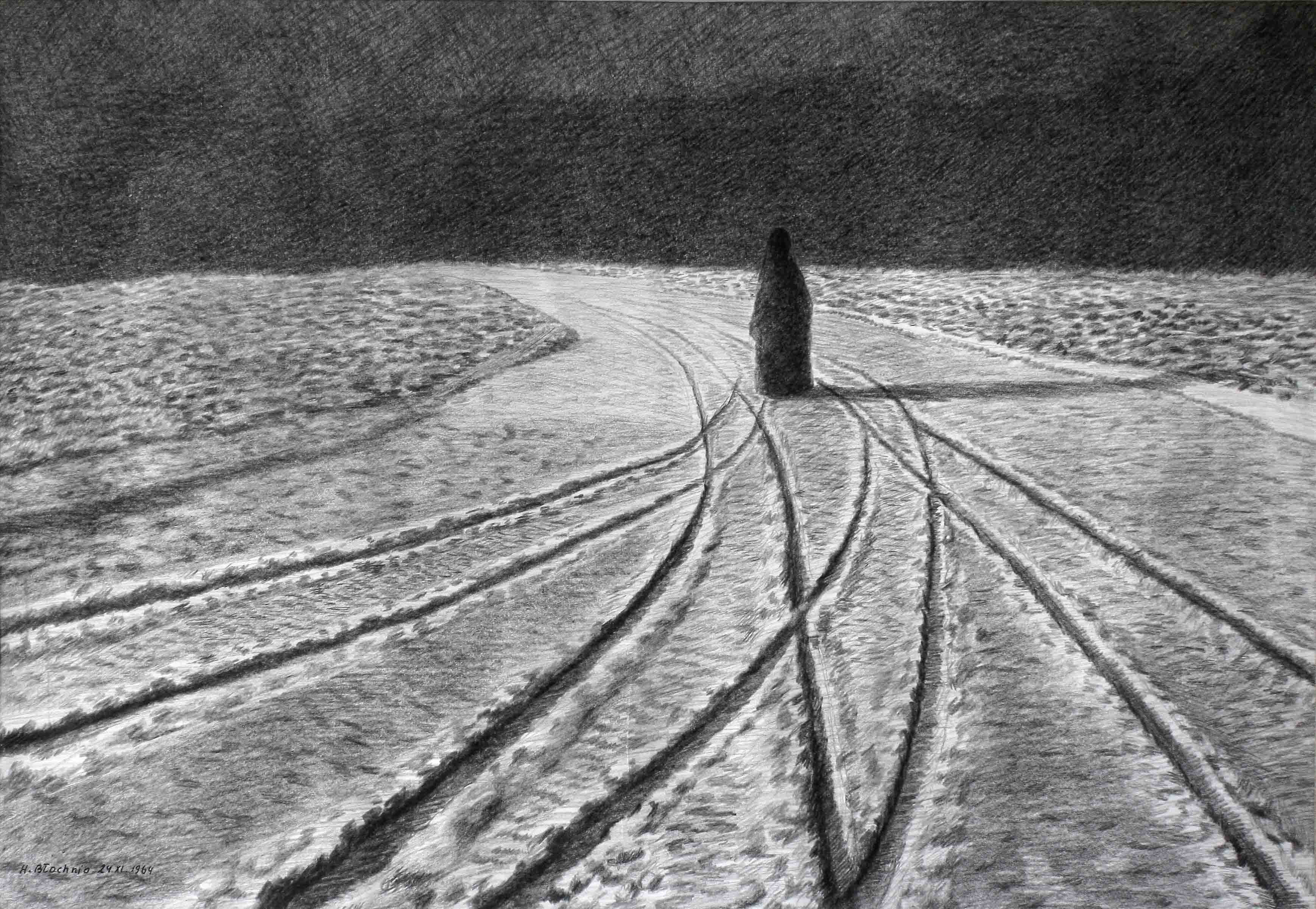 Henryk Błachnio_Matka_rysunek_70x100_1964