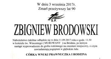 Pożegnanie Zbigniewa Brodowskiego