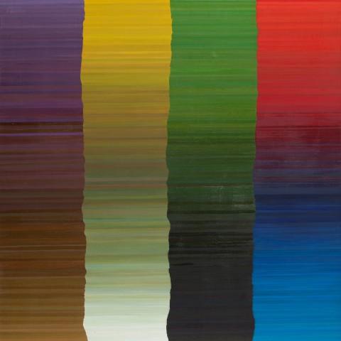 04- Apoloniusz Węgłowski, Kompozycja, olej, płótno, 150x80 cm