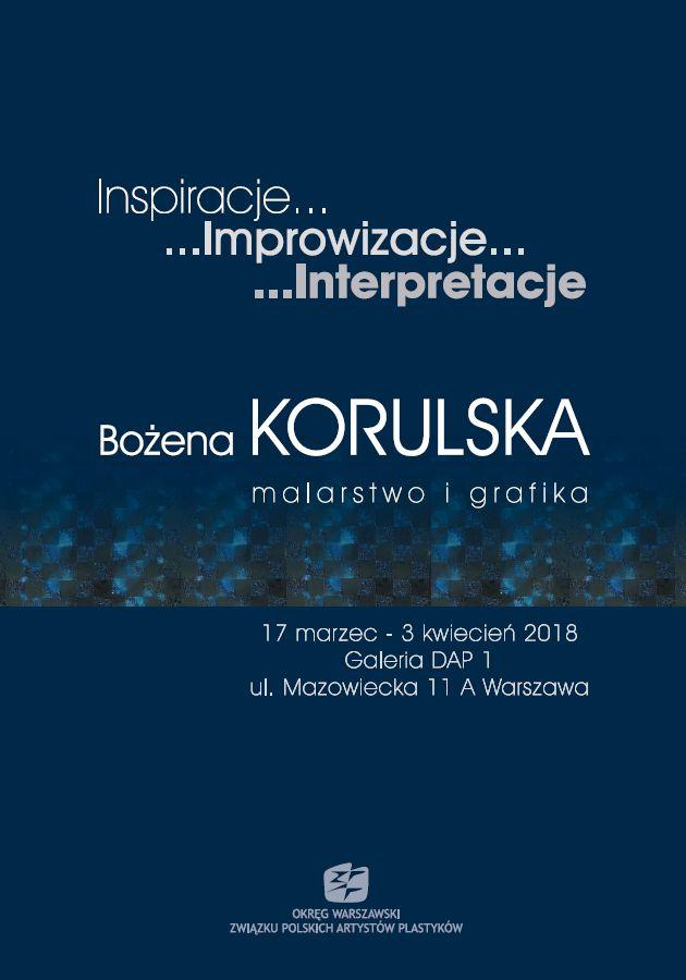 Plakat Bożena Korulska