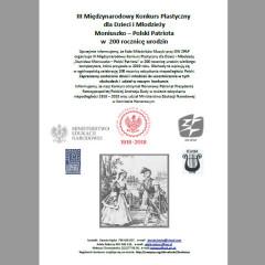 III Międzynarodowy Konkurs Plastyczny dla Dzieci i Młodzieży: Stanisław Moniuszko – Wielki Patriota w 200 rocznicę urodzin