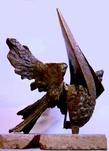 20-Majid Jammoul- Z popiołu - 2013 -bronze -74 x 68x 52 cm