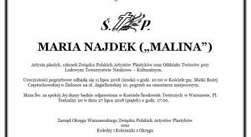 Pogrzeb Marii Najdek