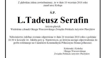 Pożegnanie L. Tadeusza Serafina