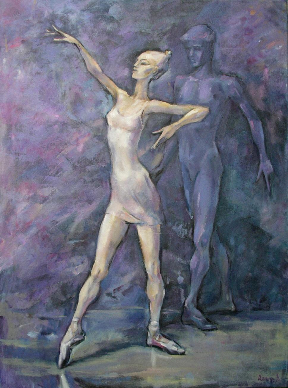 Roussana Alex-Nowakowska Taniec ol. płótno 60- 80sm