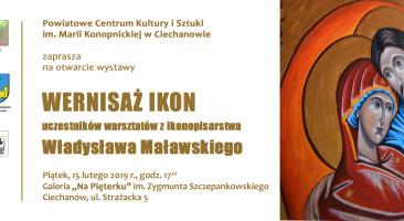 Wernisaż ikon uczestników warsztatów ikonopisarstwa Władysława Maławskiego