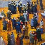 Jesienny waltz, olej na płótnie, 2012