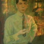 Autoportret z plamami słońca, olej, ok. 1942.