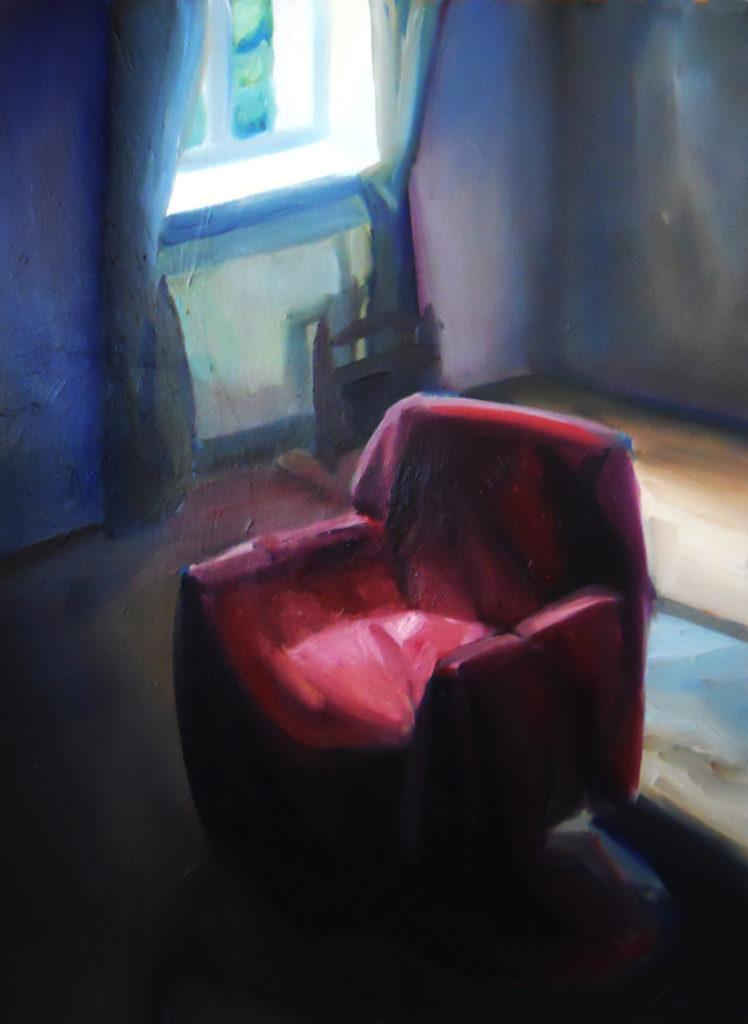 PUSTY FOTEL, obraz akrylowy, 130x110, 2013