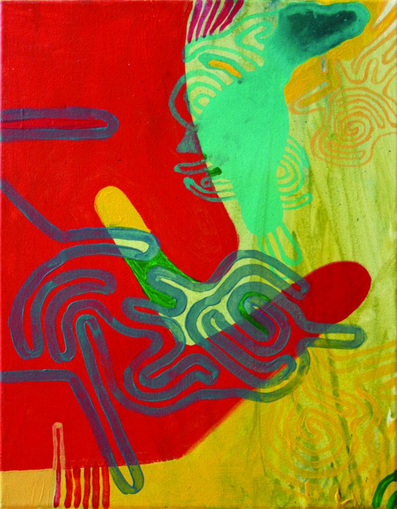 Labirynt nadmorski, akryl na płótnie, 2013