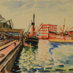 Port w Gdyni, 1936