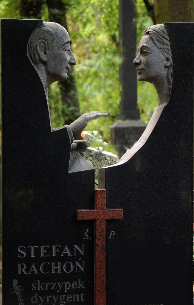 Stefan Rachoń, granit, 2002, Powązki
