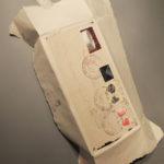 Koperta liczona, papier akryl pieczęcie, 40x35