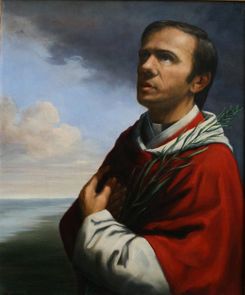 Męczennik (ks.Jerzy Popiełuszko,olej na płótnie 60x50cm)