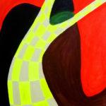 ,,Miłość w kratkę'', akryl na płótnie, 120x80, 2013