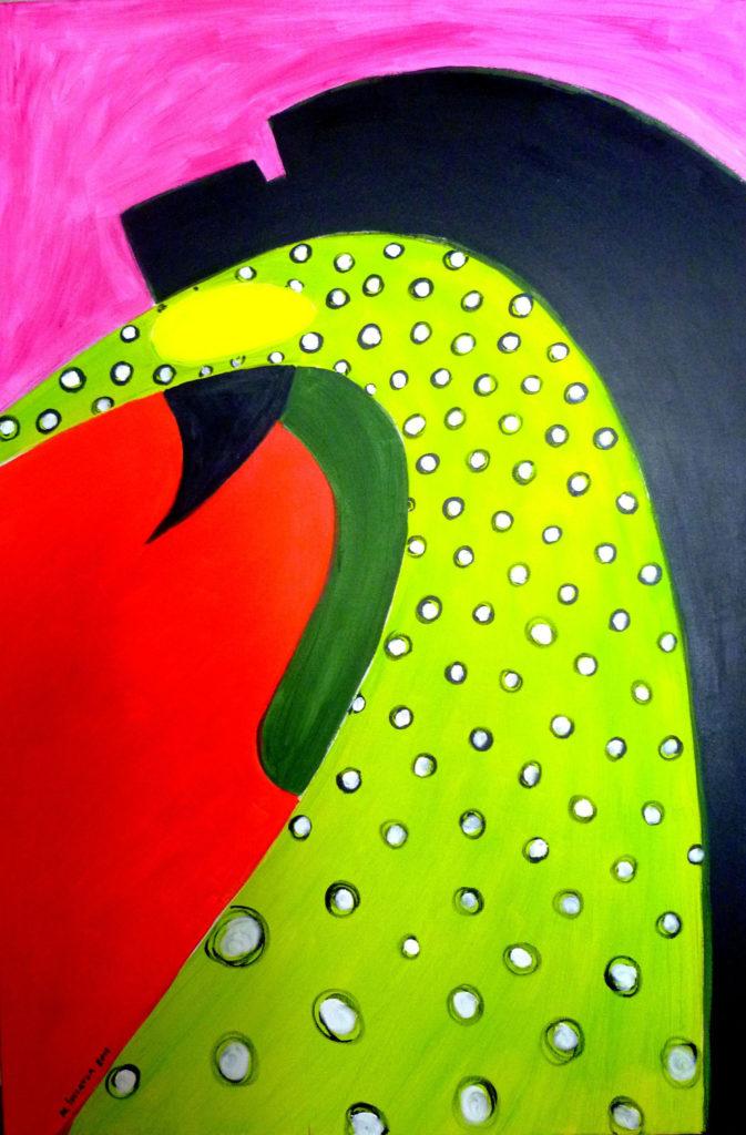 ,,ODDAJ MI SWOJE PIEGI'', akryl na płótnie, 120x80, 2013