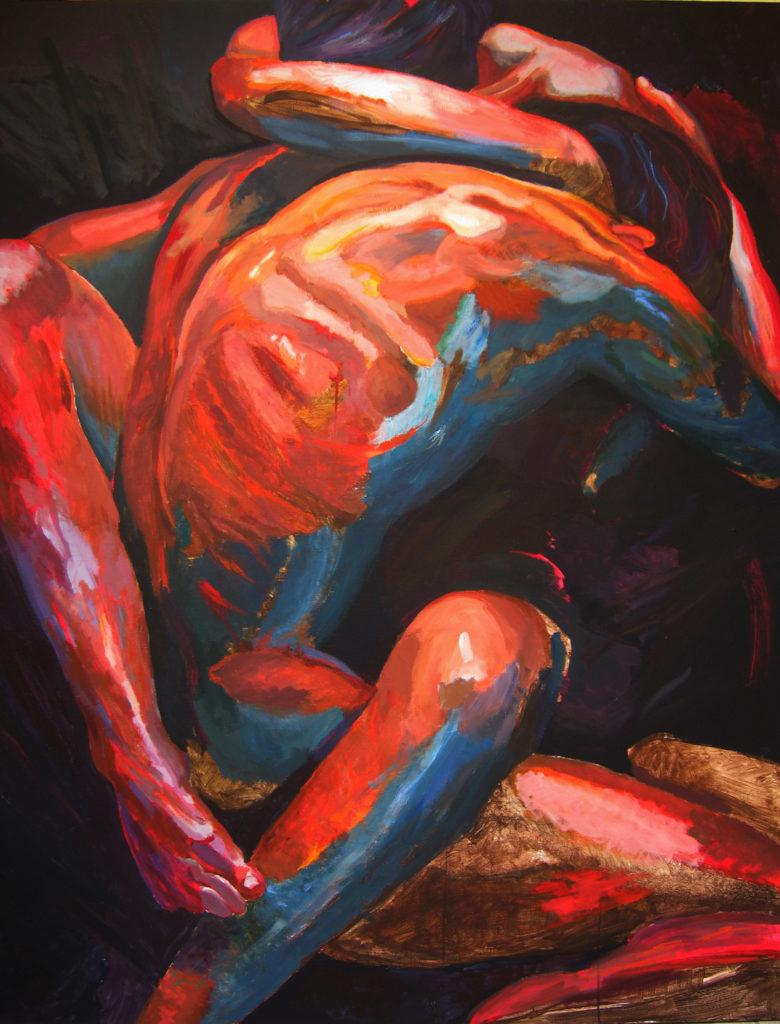 Obraz XII, akryl i pastel na płótnie, 160x120, 2010