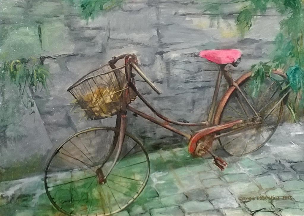 Rower, olej na płótnie, 100x70 cm