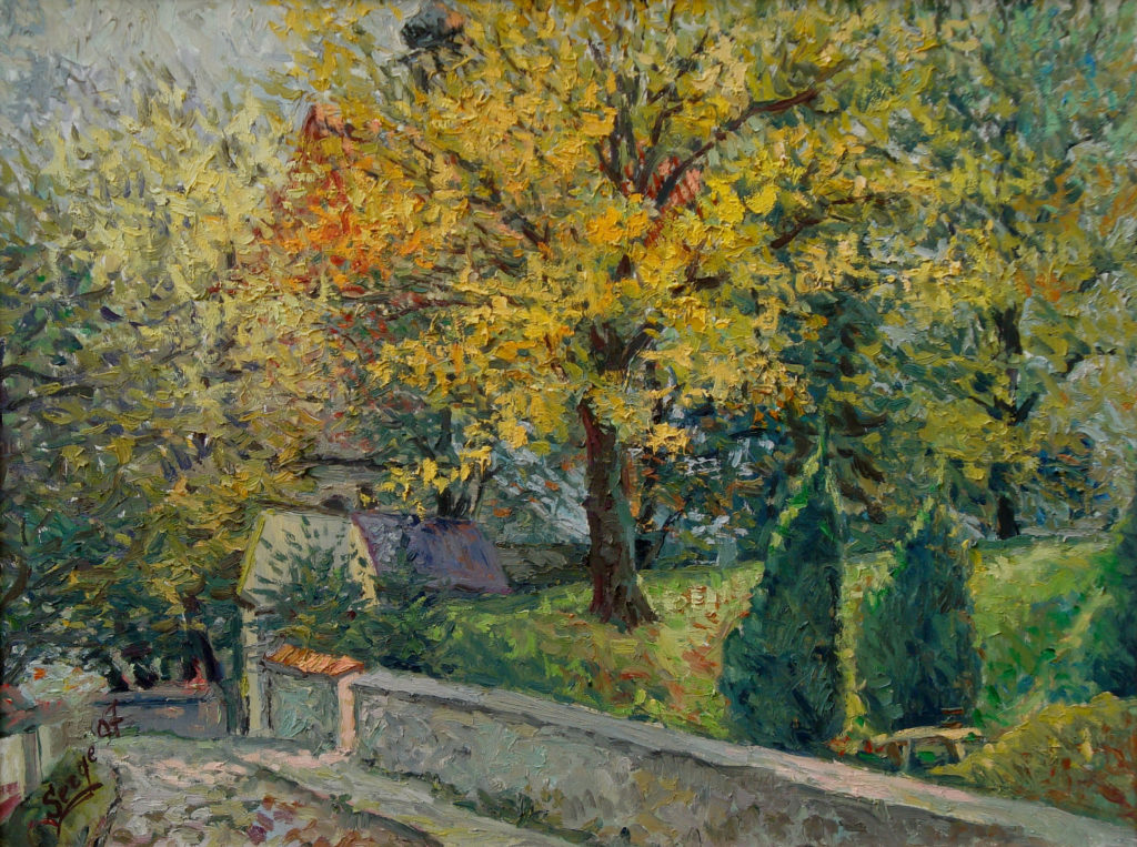 Tryumf jesieni, olej, płótno, 60x91cm, 1997