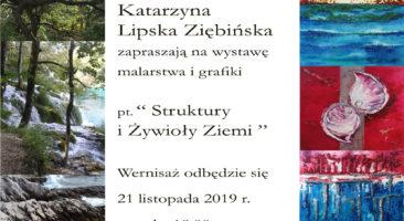 """Katarzyna Lipska-Ziębińska """"Struktury i Żywioły Ziemi"""""""