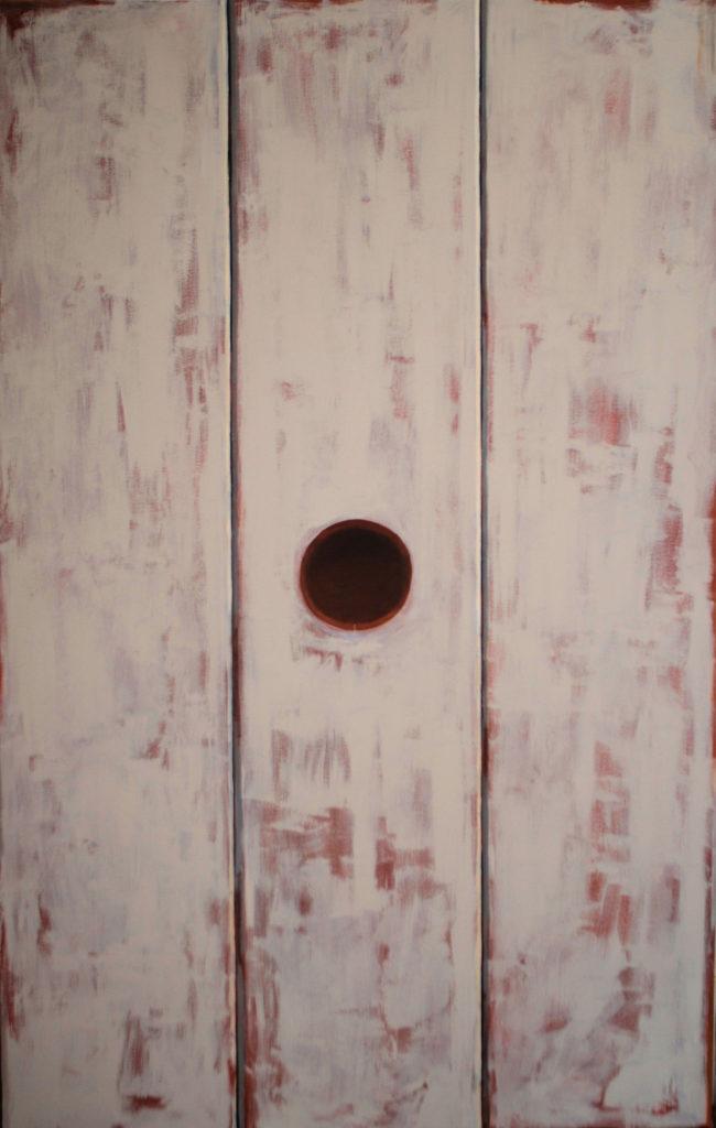 Stołek, olej na płótno, 220x140, 2009,