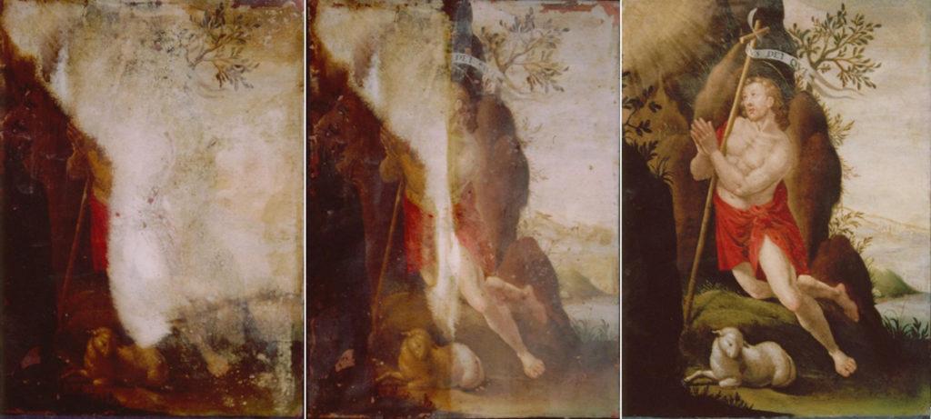 konserwacja obrazu Lucasa van Leyden