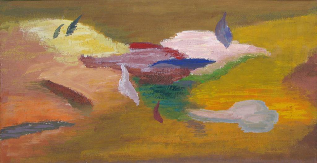 Erupcja, olej, akryl, płyta 85 x 94,5, 2014