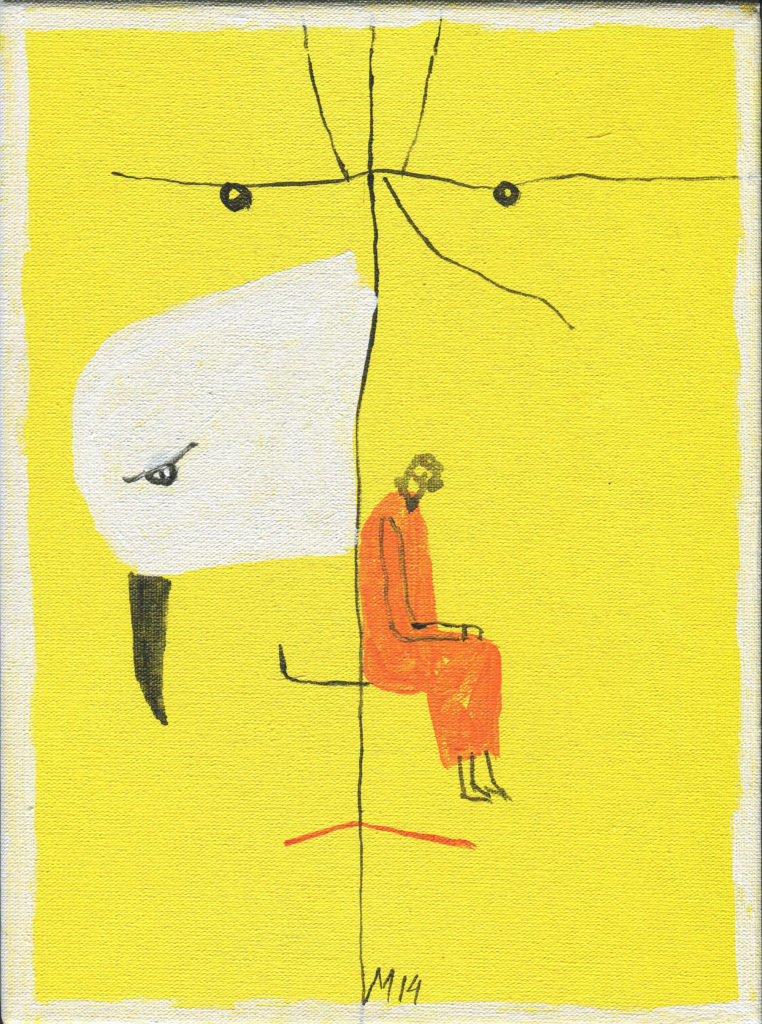 Z cyklu Ptaki moje, akryl, 24x18, 2014r.