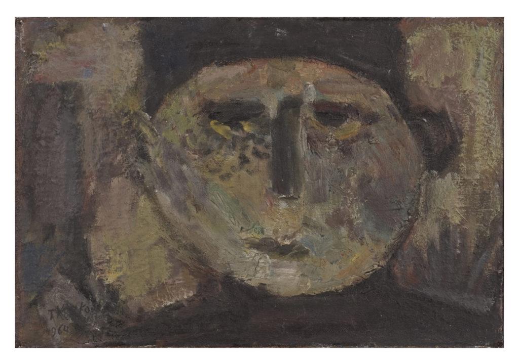 Głowa III, 41 x 60 olej na płycie, 1964