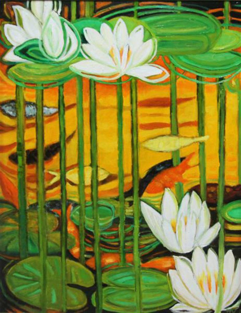 Lilie w żółci, 120x 90