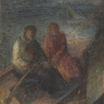 Para na łodzi, olej, płótno, 1935
